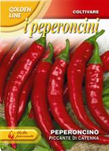 Chilli Pepper Piccante Cayenna GL (A) Capsicum annuum L.