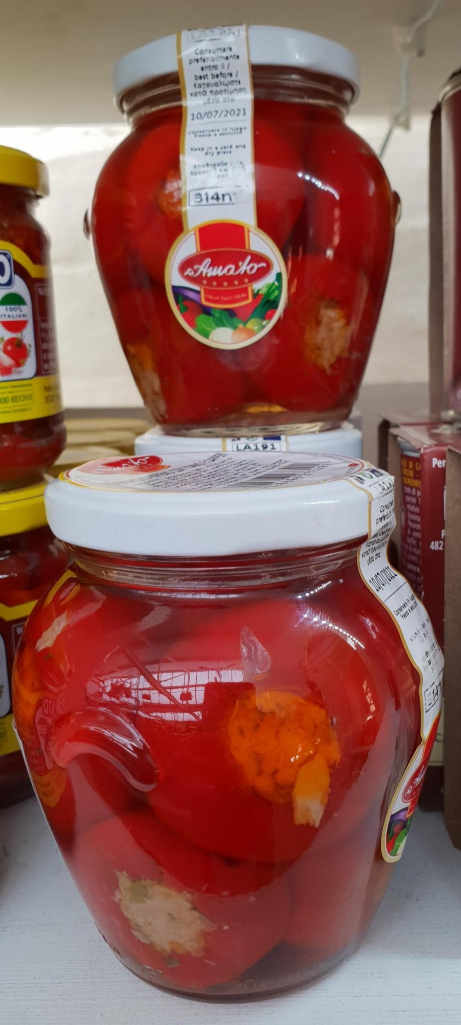 Amato Traditional Tuna stuffed Calabrian Chillies 314g jar