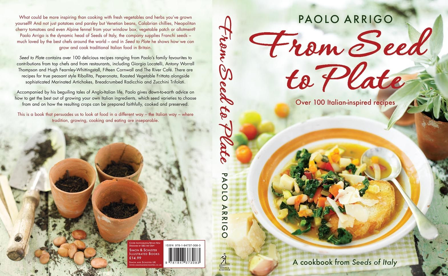 "Paperback ""From seeds to Plate"" by Paolo Arrigo"