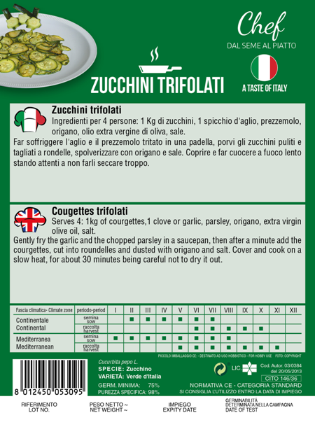 Linea Chef - Italy, Courgette With Recipe For Zucchini Trifolati