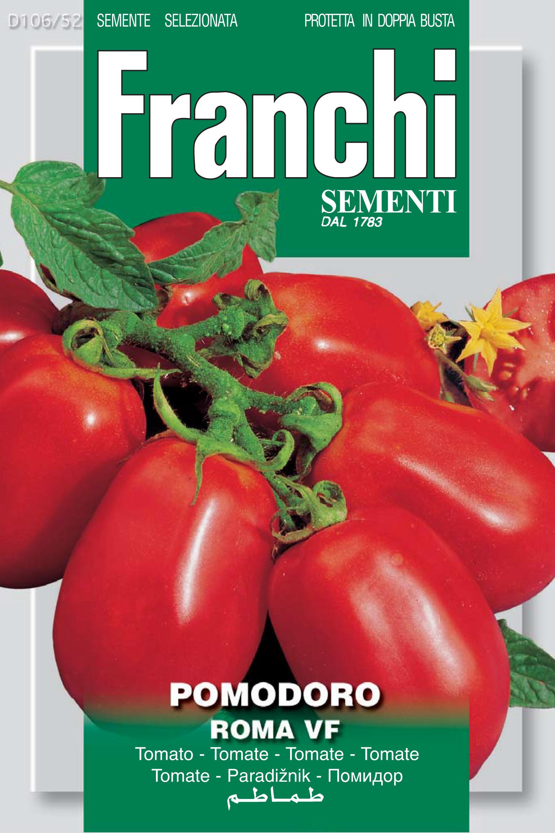 Tomato Roma VF - save 46p (A) Solanum Lycopersicum L.