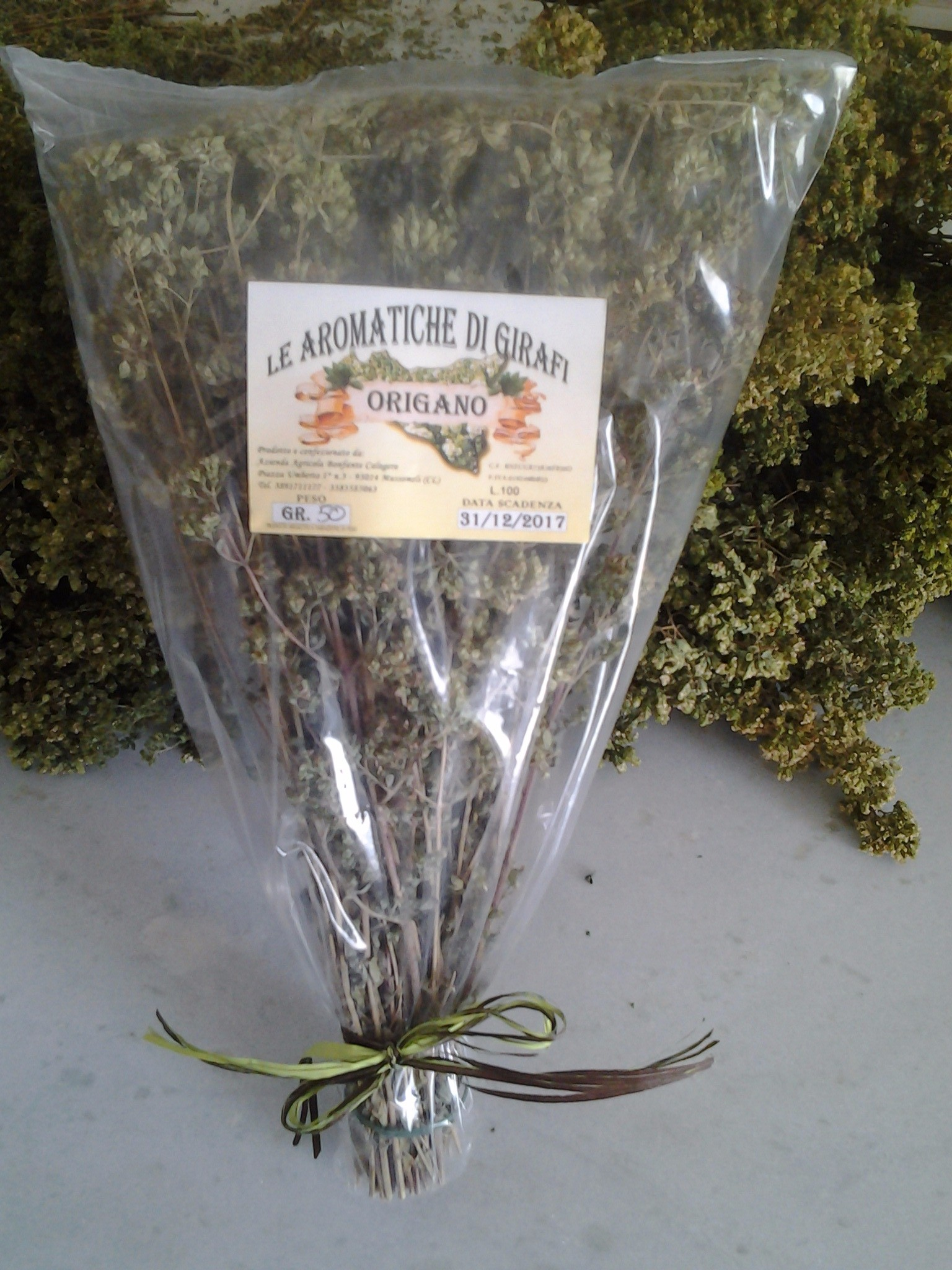 Sicilian dried origano branch - UK Only