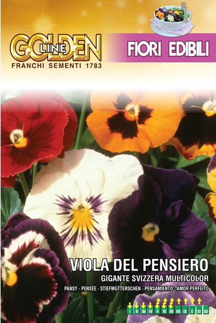 Swiss Pansy edible flowers for kitchen