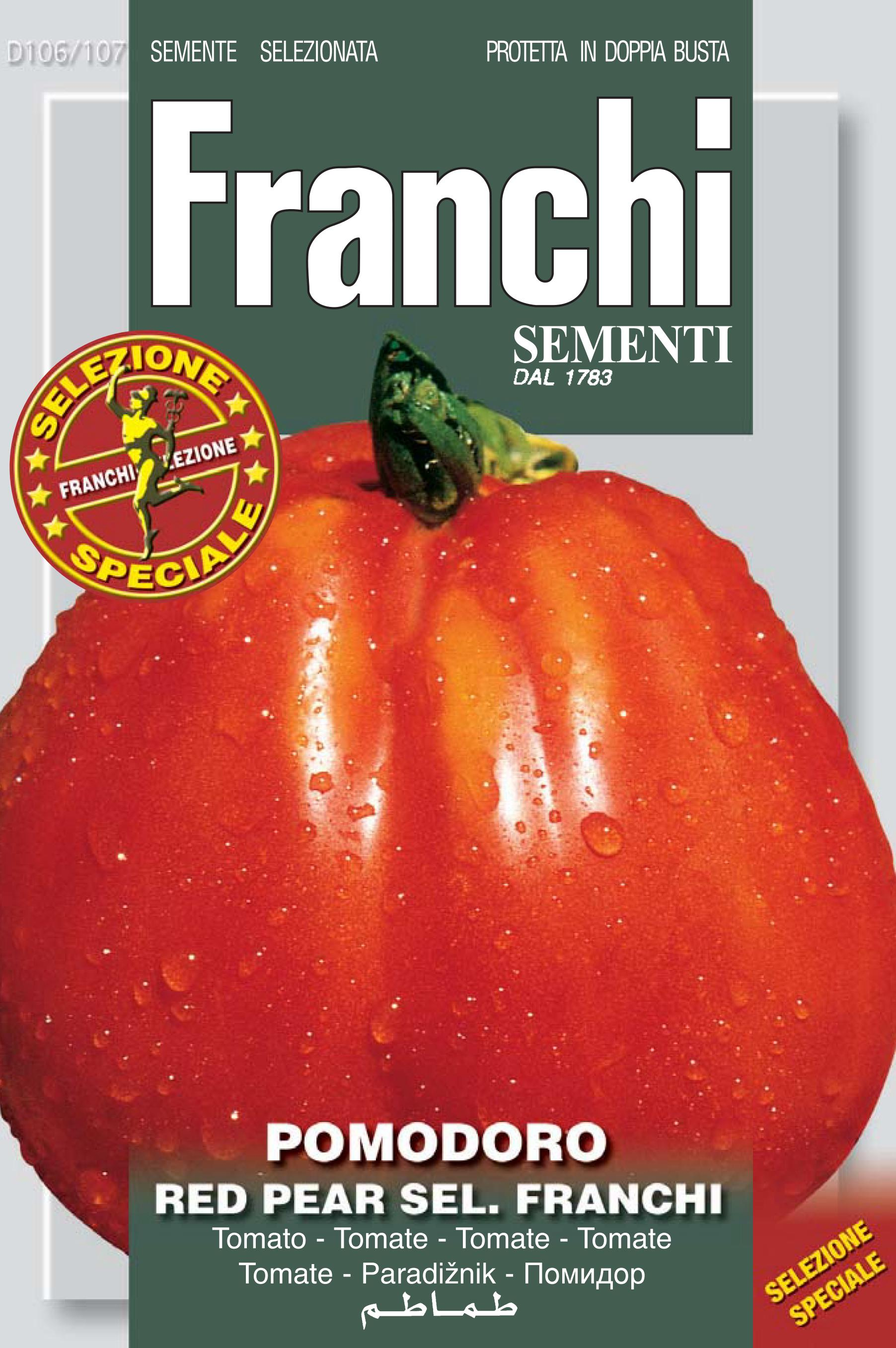 Tomato Red Pear Franchi Of Bergamo (A) Solanum Lycopersicum L.