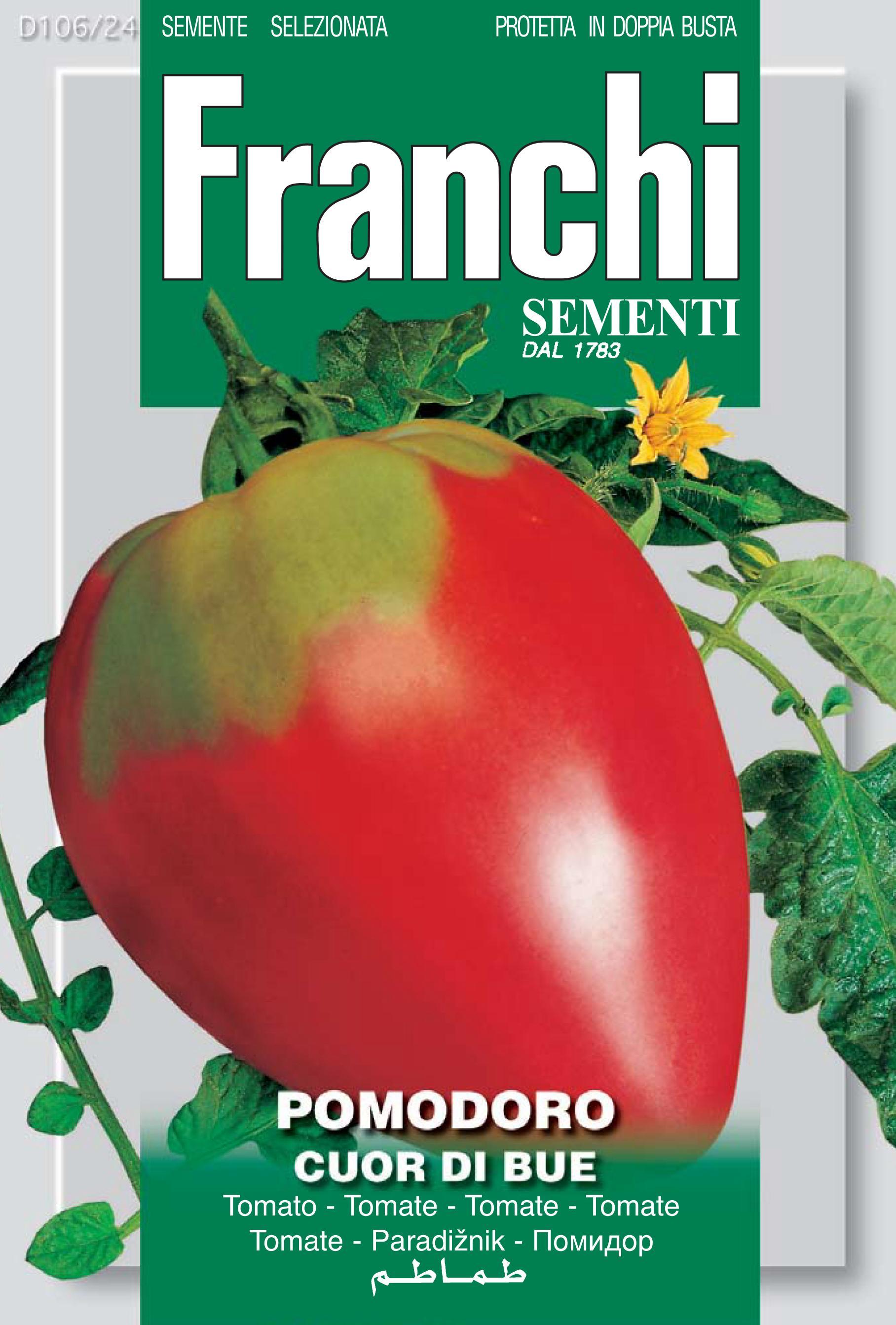 Tomato Cuor Di Bue / Coeur De Boeuf Of Liguria (A) Solanum Lycopersicum L.