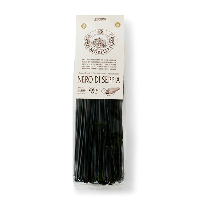 Squid Ink Linguine 250g from Pisa Pasta Morelli