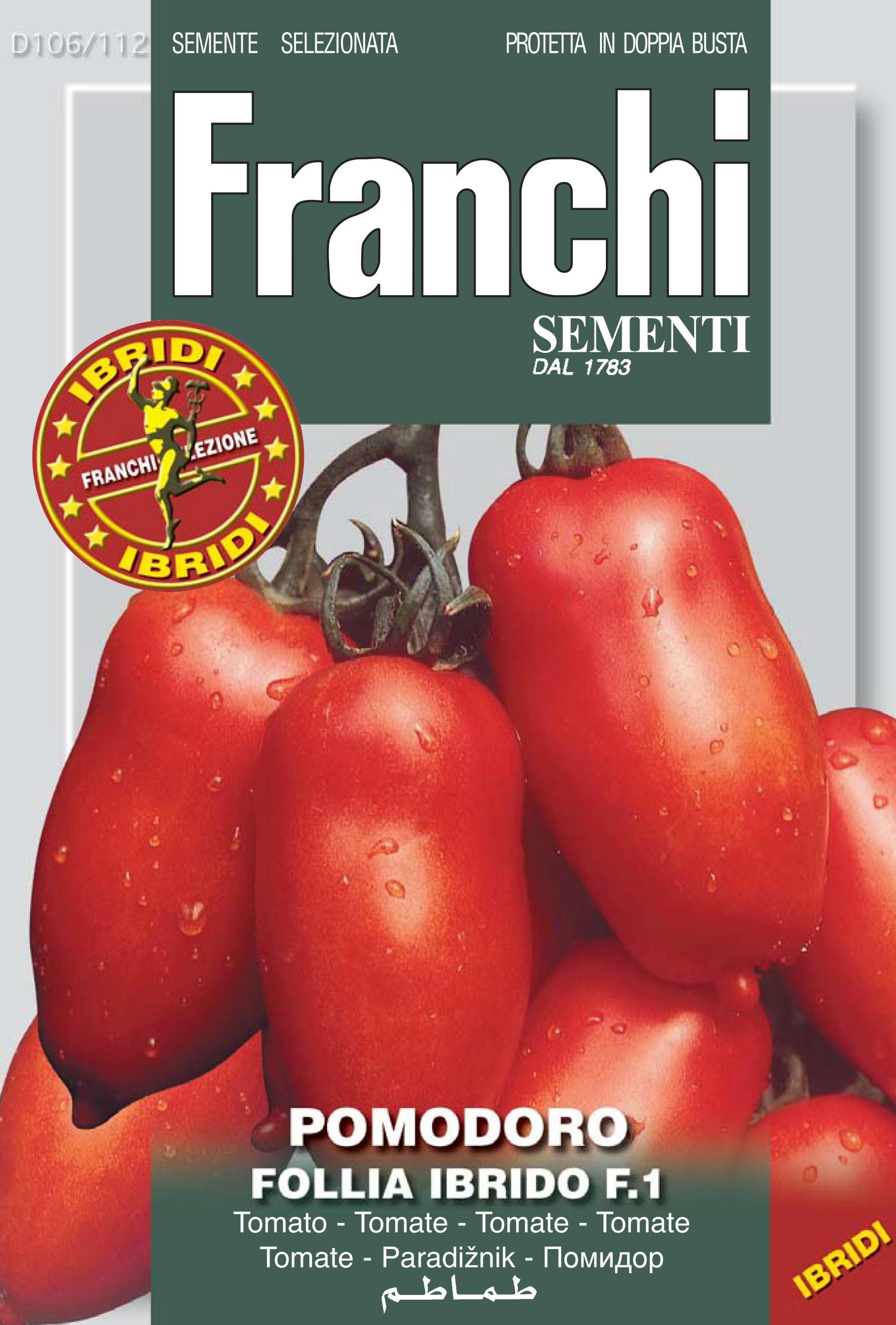 Tomato Supermarzano ex Follia F1 (A) Solanum Lycopersicum L.