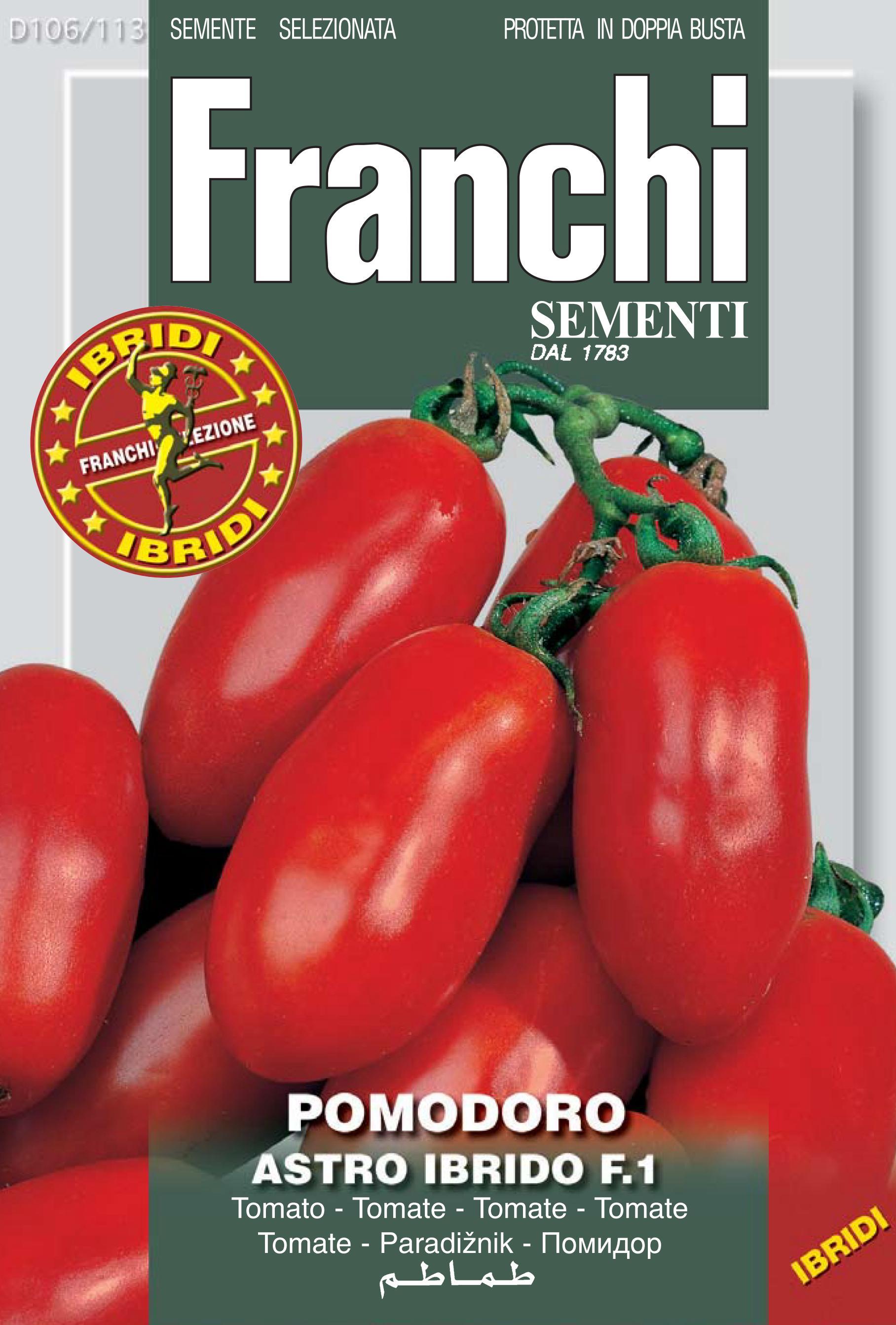 Tomato Astro Scipio F1 San Marzano Nano (A) Solanum Lycopersicum L.