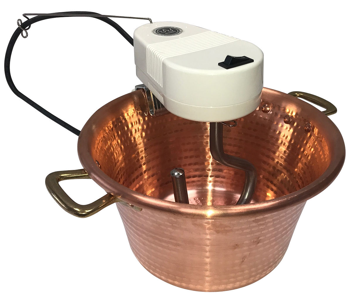Copper Preserving Pan with electric stirrer