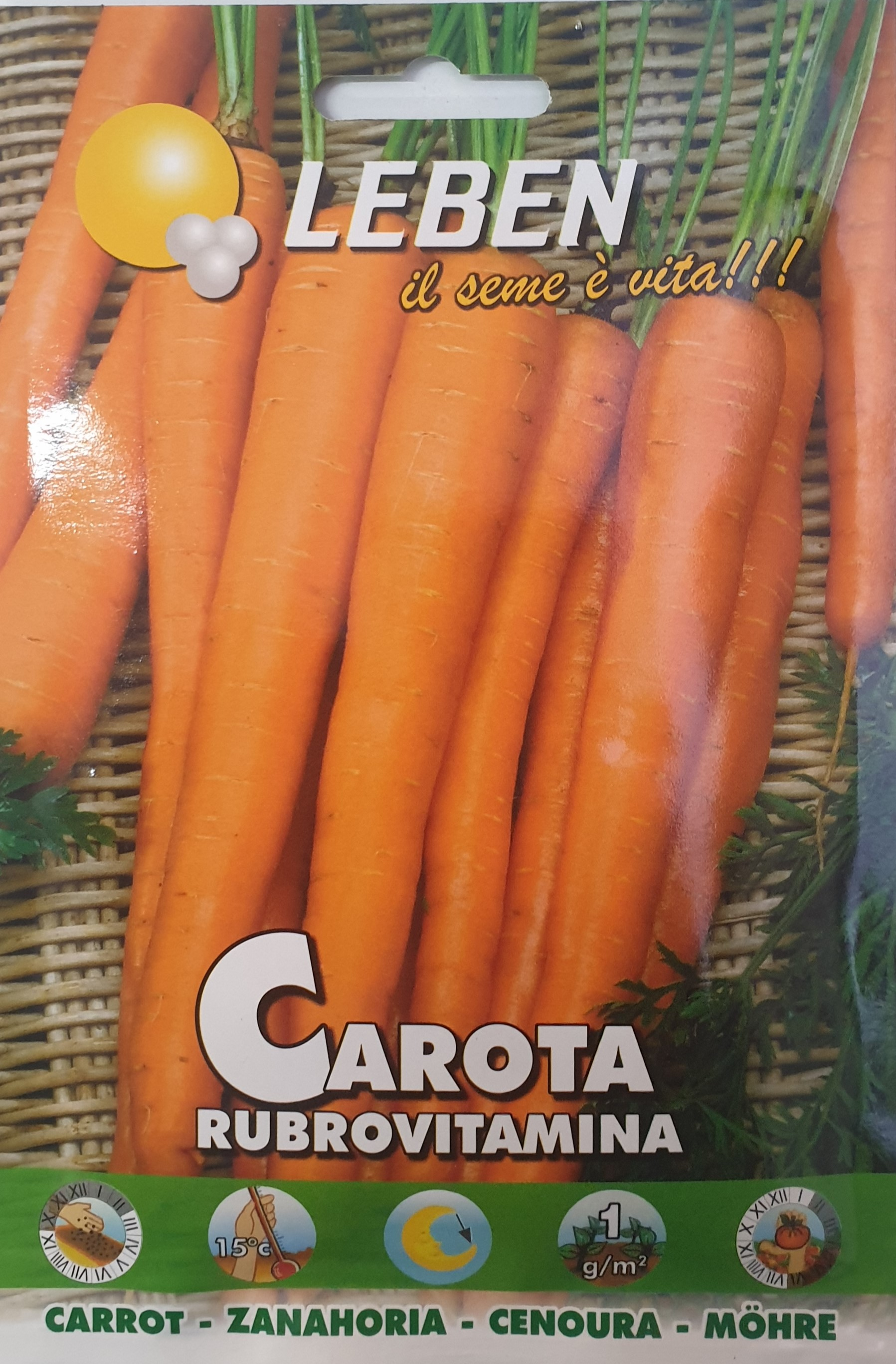 Carrot Rubrovitamina Leben Alpine Seeds by Franchi