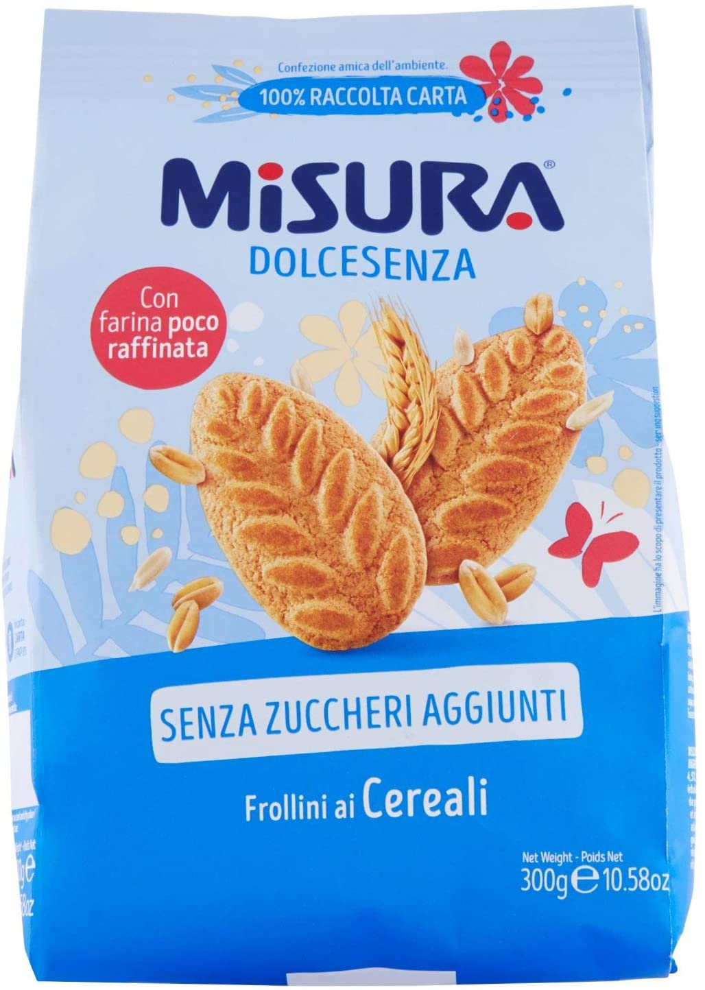 Misura Dolcesenza wholemeal biscuits *Collection only item*