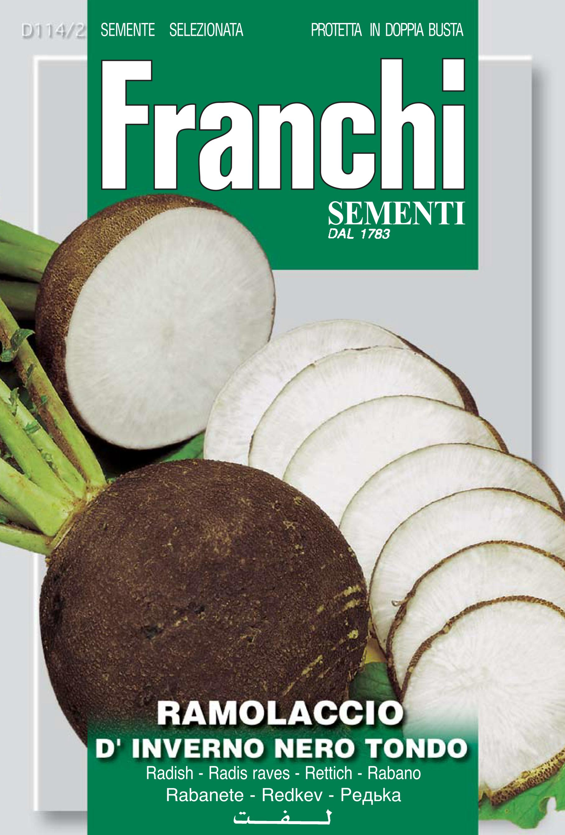 Black Radish Ramolaccio Franchi Leben brand