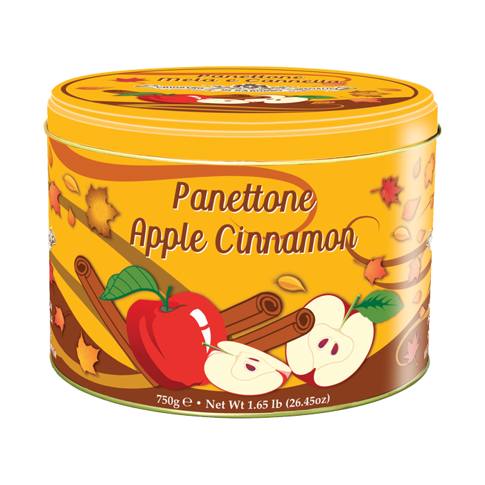 Apple Cinnamon Panettone by Chiostro of Saronno 750g Tin