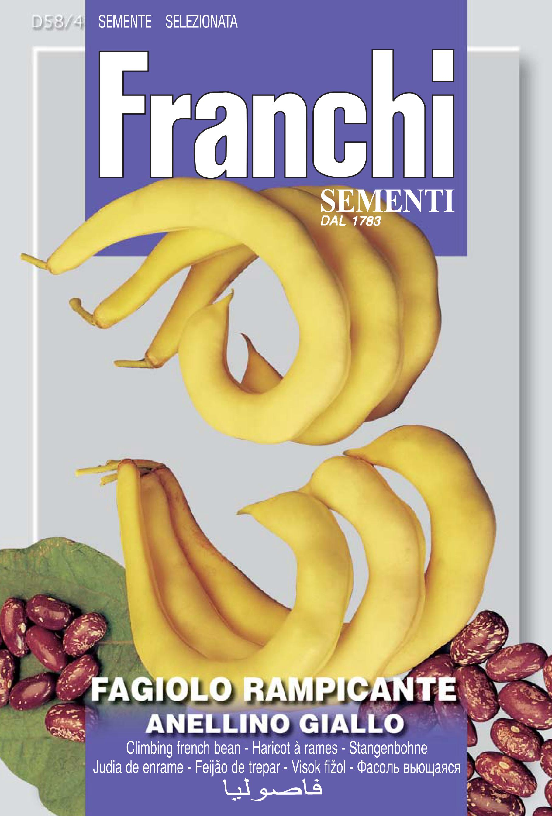 Climbing French Bean Anellino Giallo Save 46p