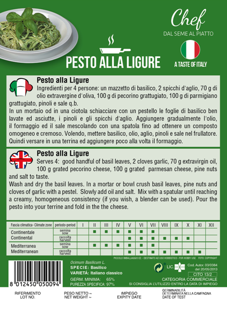 Linea Chef - Italy, Basil Classico With Pesto Genovese Recipe