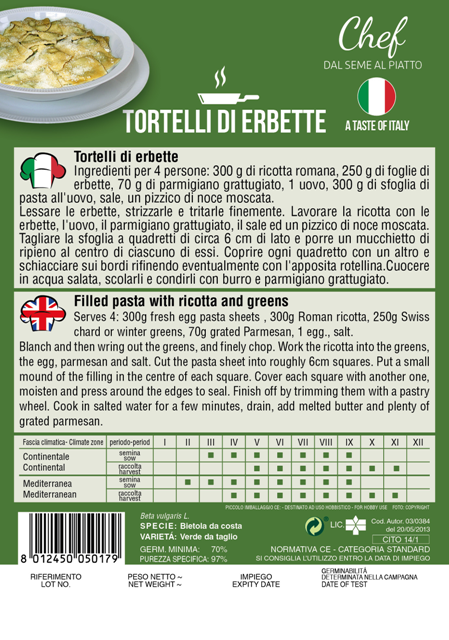 Linea Chef - Italy, Swiss Chard With Recipe Torelli Di Erbette