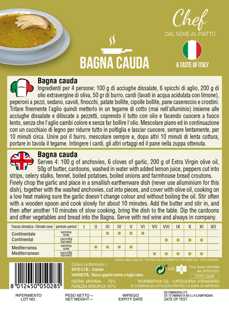 Linea Chef - Italy Cardoon With Recipe For Bagna Cauda