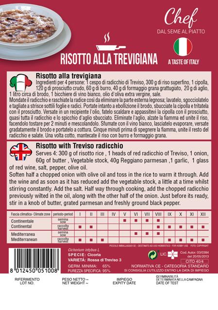 Linea Chef - Italy, Radicchio With Recipe For Risotto Alla Tevigiana