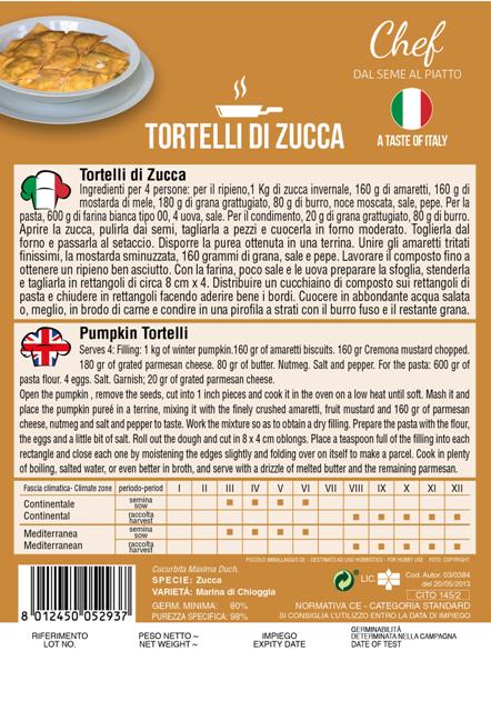 Linea Chef - Italy, Pumpkin With Recipe For Tortelli Di Zucca