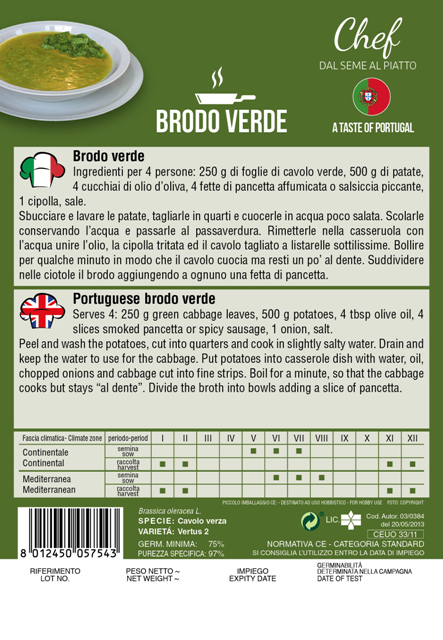 Linea Chef - Portugal, Savoy Cabbage With Recipe For Brodo Verde