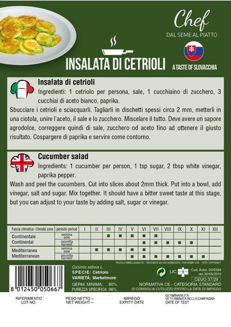 Linea Chef - Slovakia, Cucumber- Slovakian Cucumber Salad Recipe