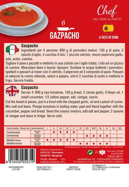 Linea Chef - Spain, Tomato With Recipe For Spanish Gaspacho (A) Solanum lycopersicum L.