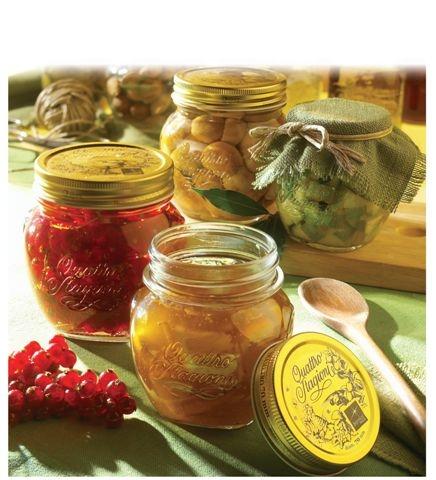 Bormioli single 0.25L jar with preserving lid