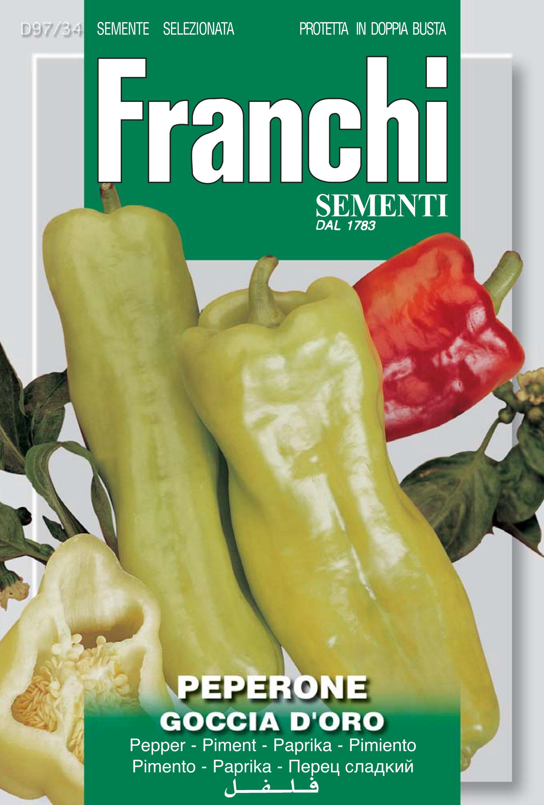 Pepper Goccia D'oro (A) Capsicum annuum L. *save 70p