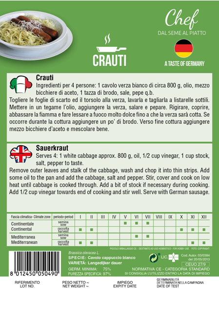 Linea Chef - Germany, Cabbage, Recipe Saurkraut
