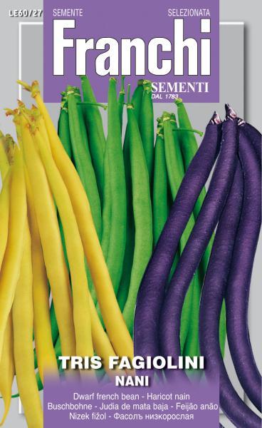 Tris Of Dwarf Beans Box - UK Only (A)Phaseolus vulgaris L.