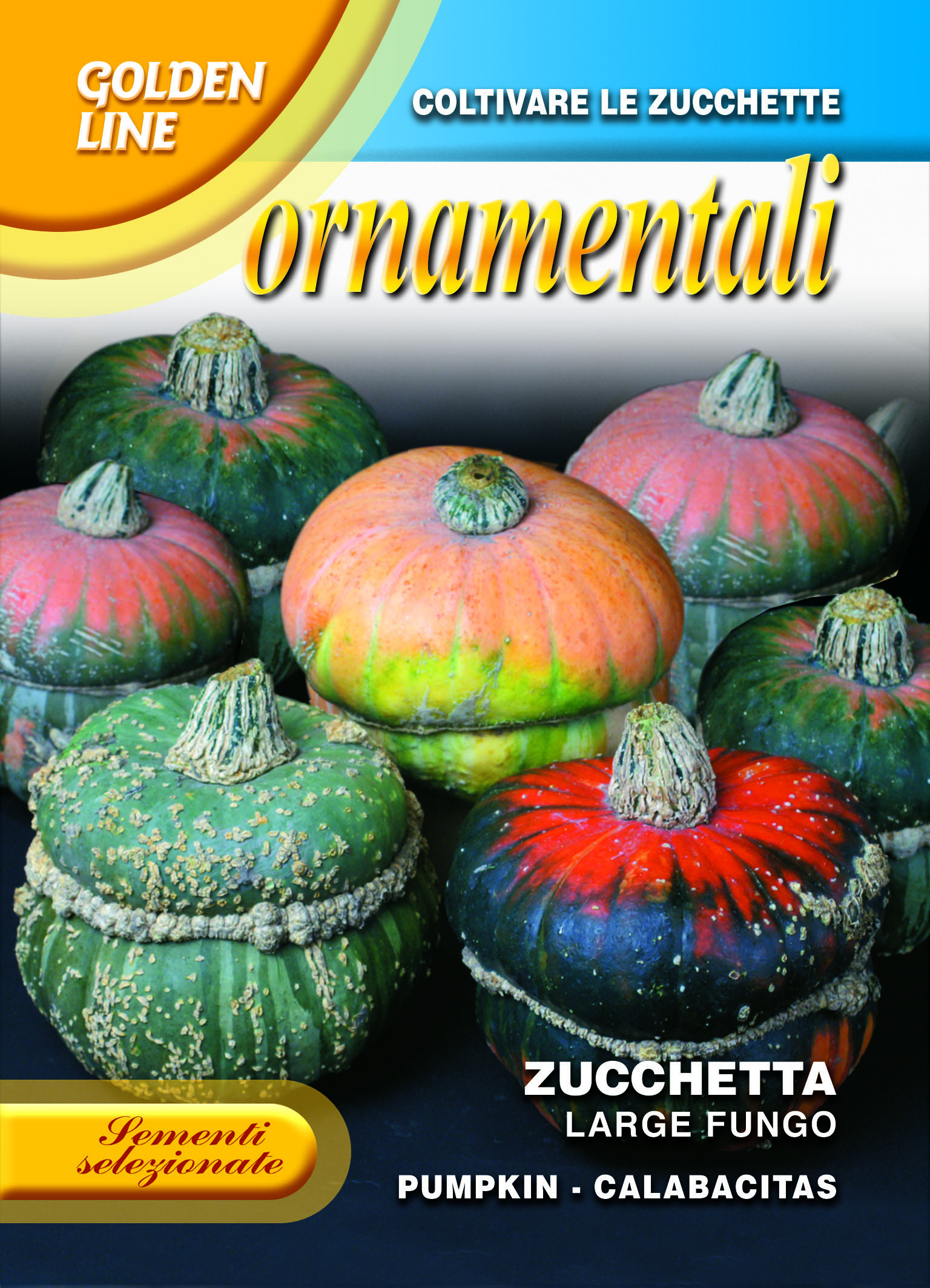 Large mushroom ornamental squash