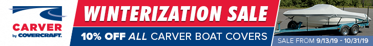 Carver Special Sale Banner 10% Off Boat Cover
