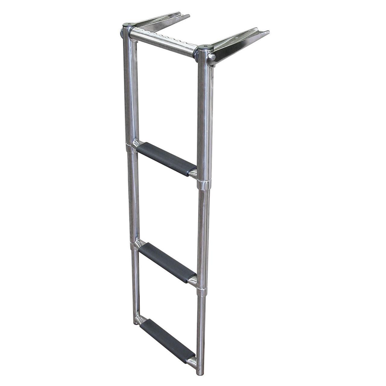 Over Swim Platform 2-4 Step Ladder | Stainless Steel Telescoping | JIF | EQB
