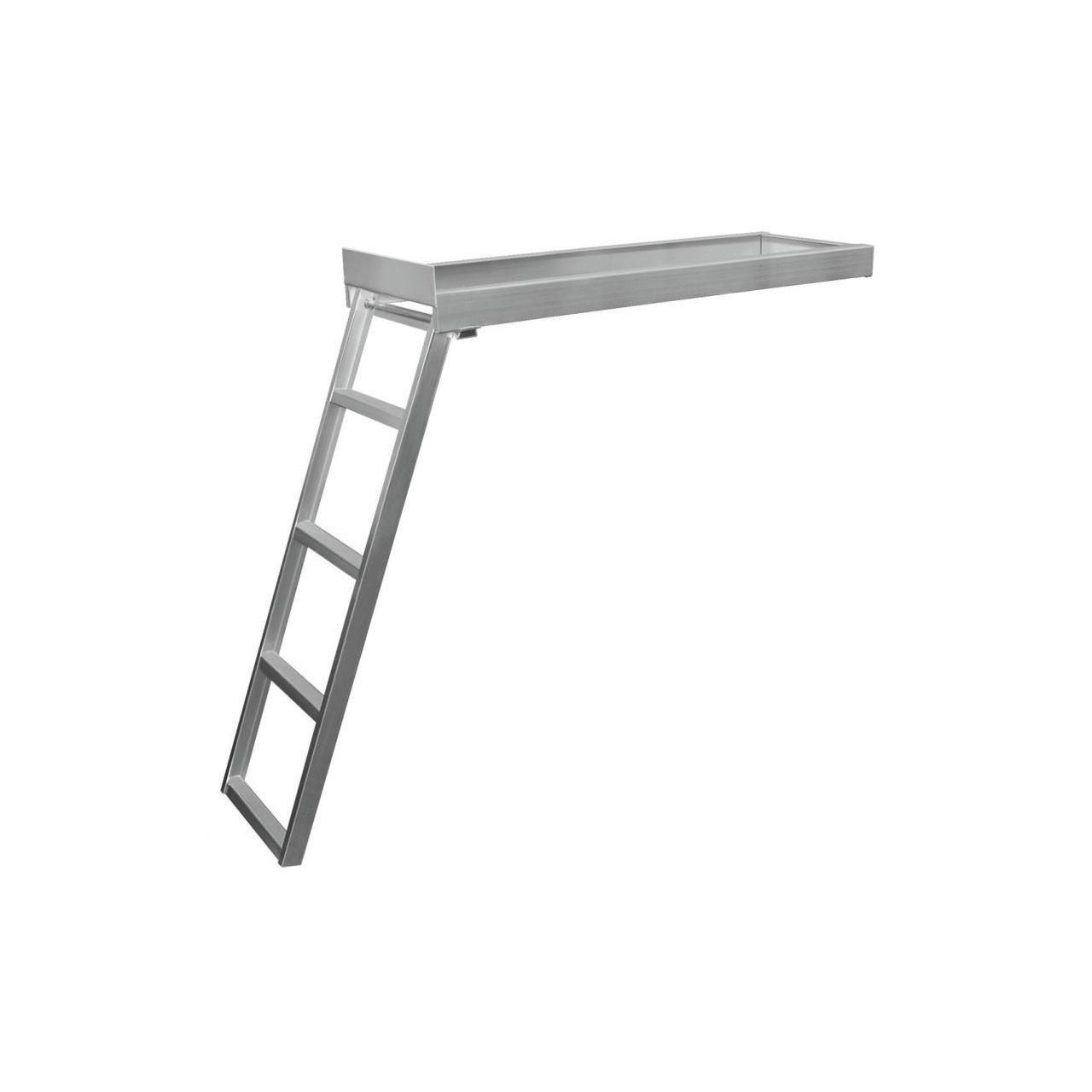Under-Deck Pontoon 4-5 Step Ladder | Aluminum | JIF | CSD