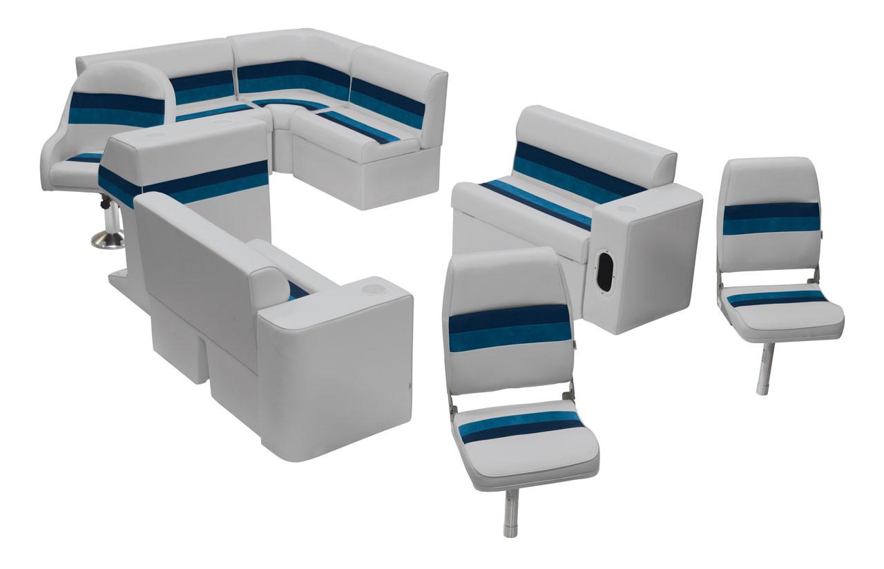 Wise Deluxe Pontoon Furniture Fishing Seat Set Ws13575 Free Shipping