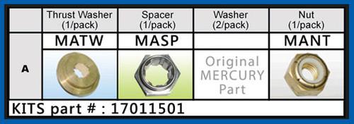 17041501 SOLAS Hardware Kit Suzuki 8-15 HP Fixed Hub A-Series Prop
