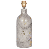 Grey Marble Lamp Base with Gold Leaf, Table Lamp