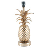 Shiny Gold Metal Pineapple Table Lamp