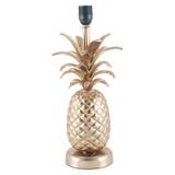 Shiny Gold Metal Pineapple Table Lamp