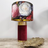 Red Velvet Table Lamp
