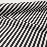 Black and White Striped Fabric, By the Half or Full Metre