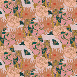 Floral Tiger Lily Trail Fabric, By the Half or Full Metre