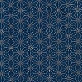 Indigo Kasuri Cotton Fabric, By the Half or Full Metre
