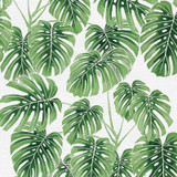 Modern Botanical Monstera Fabric, By the Half or Full Metre