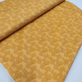 Mustard Tiger Lily Trail Cotton Fabric, By the Half or Full Metre