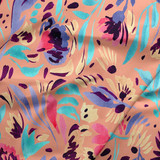 Windy Floral Coral, Urban Jungle Fabric, By the Half or Full Metre