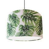 Palm Leaves Cotton Lampshade