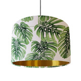 Palm Leaves Lampshade with Gold Liner