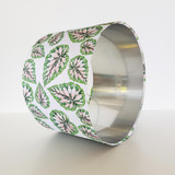 Pink and Green Botanical Leaves Lampshade with Gold Lining