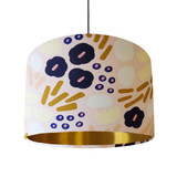 Blush Pink Floral Lampshade with Gold Lining